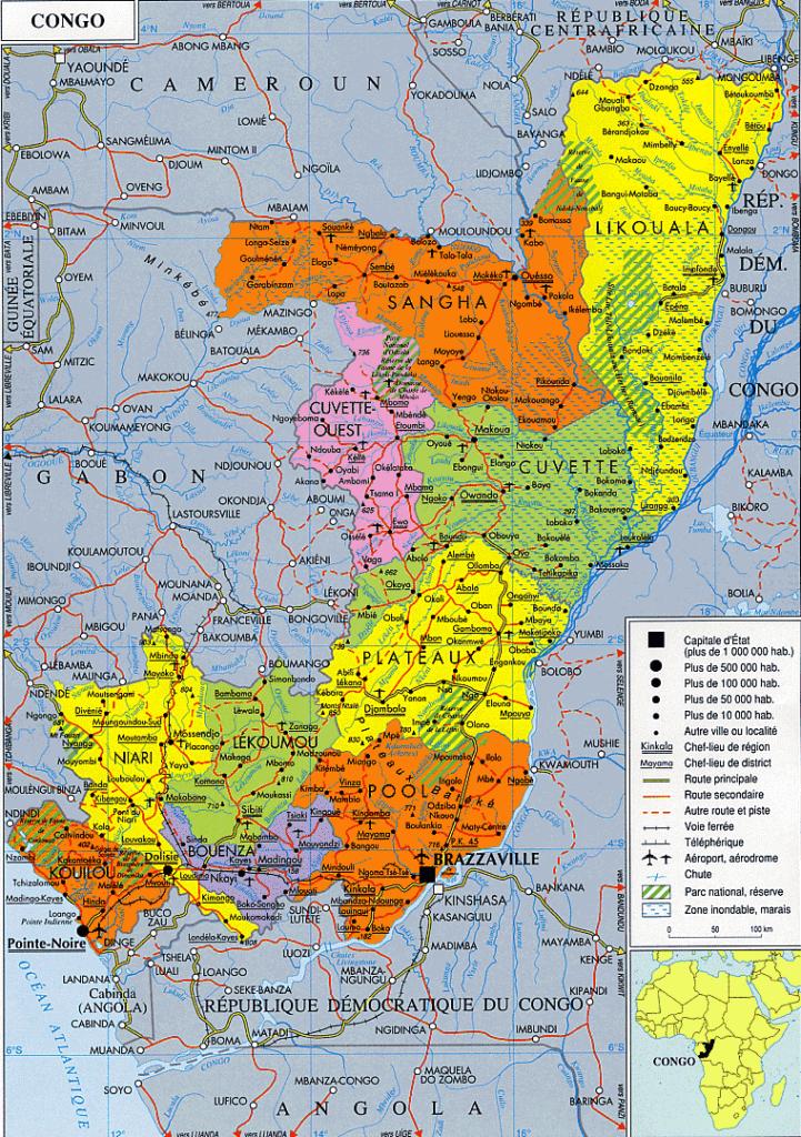 Pointe Noire - Carte du Congo