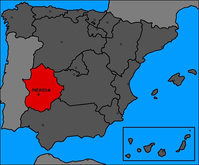 Merida - Carte Espagne