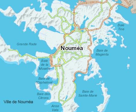 carte de Nouméa