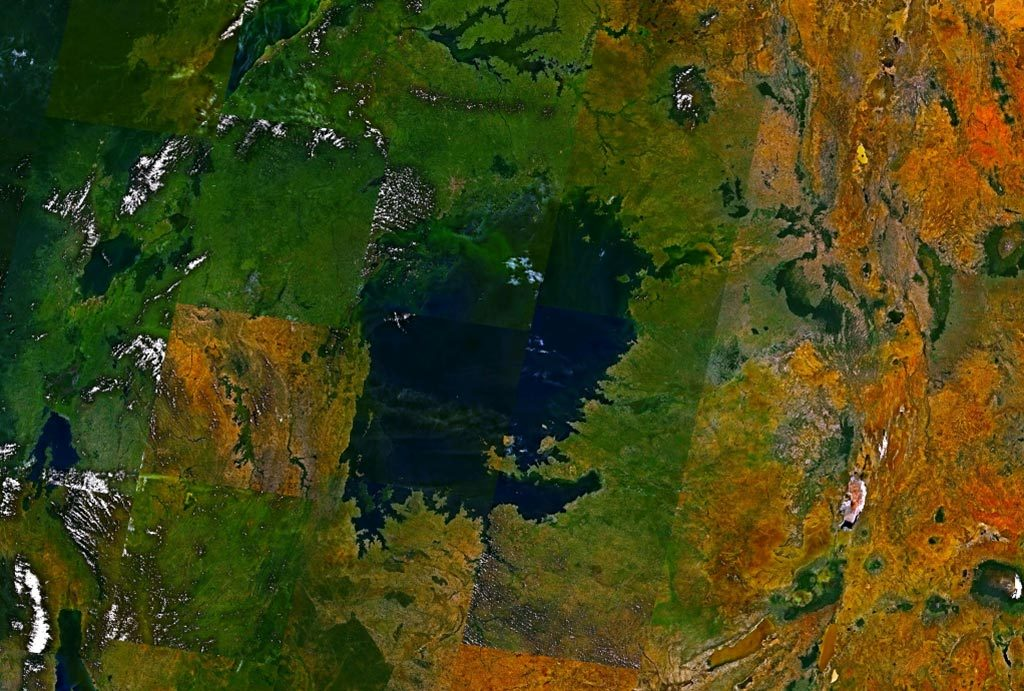 Lac victoria - photo satellite