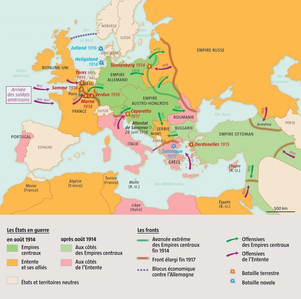 premiere-guerre-mondiale-carte