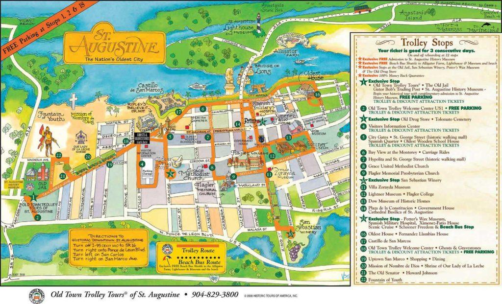Carte de Saint Augustine - Plan