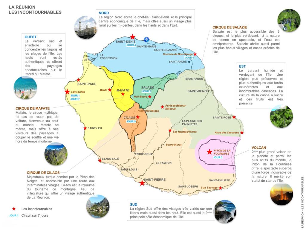 La Réunion - Carte touristique