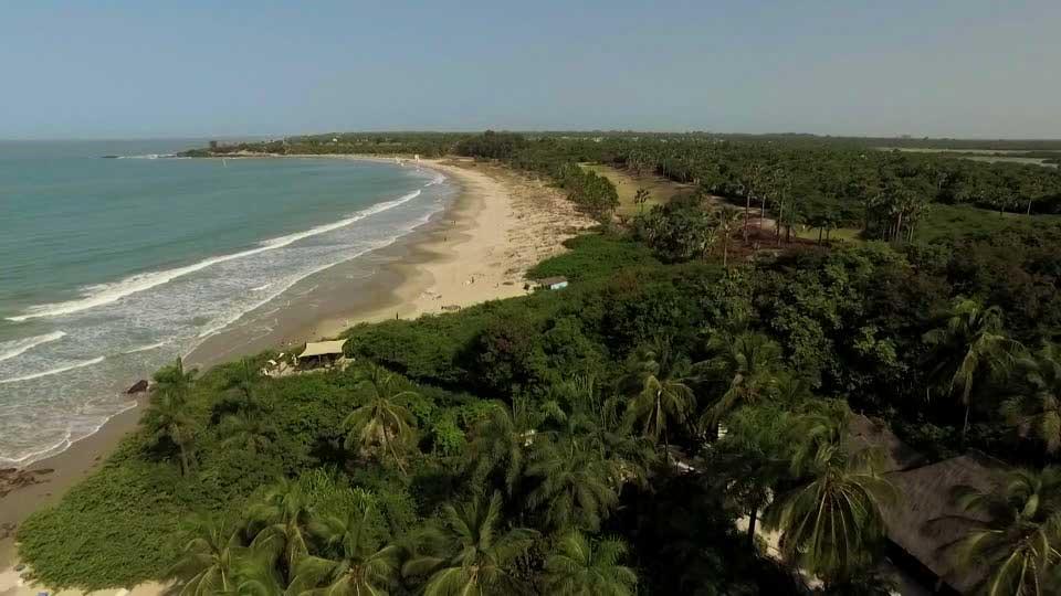 Casamance - vue aérienne