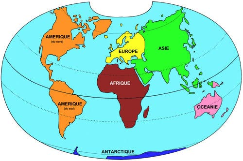 Les 6 continents