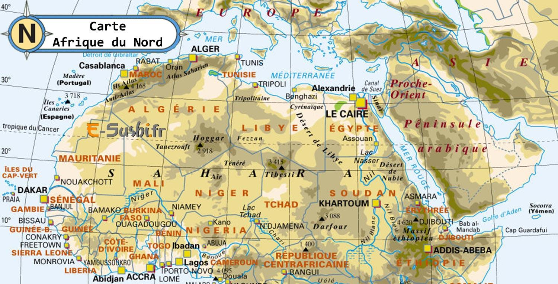 Carte Afrique Nord » Vacances   Arts  Guides Voyages