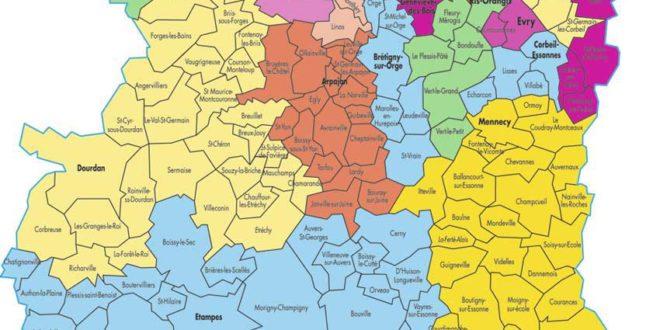 Carte Essonne