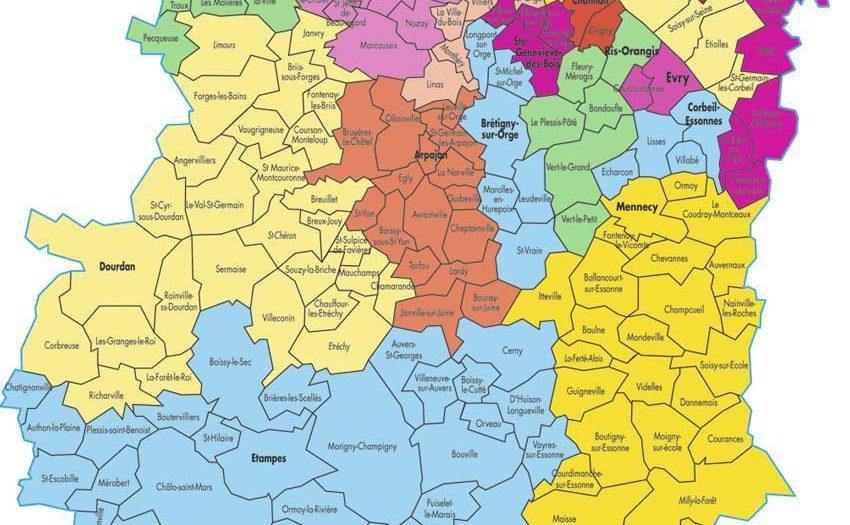 Carte Essonne - Voyages - Cartes