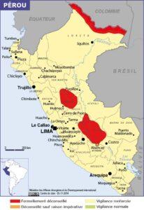 Carte géographique du pérou