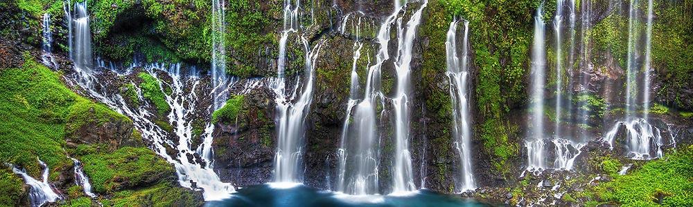 Cascade sur l'île de la Réunion