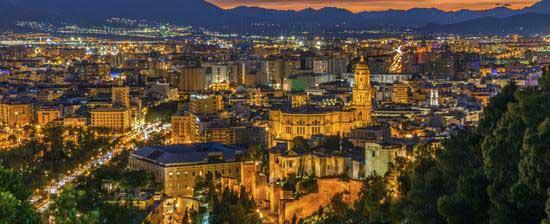 Malaga de nuit