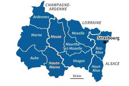 carte region est - Image