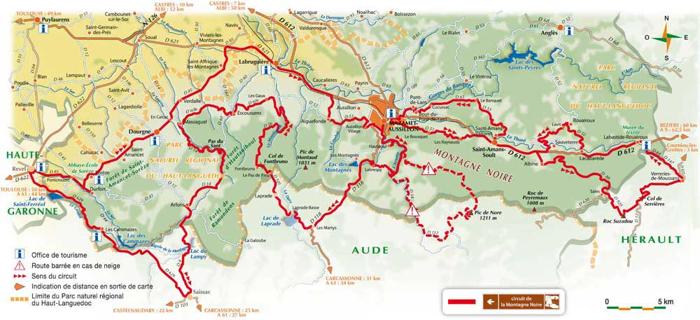Carte - Montagne Noire