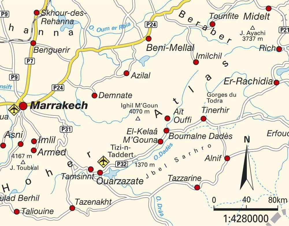 Haut Atlas Marocain - Carte