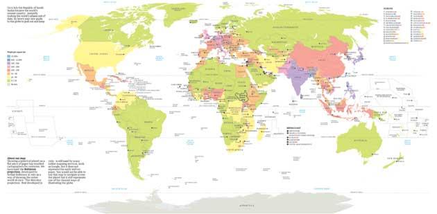 La nouvelle carte du monde des pays