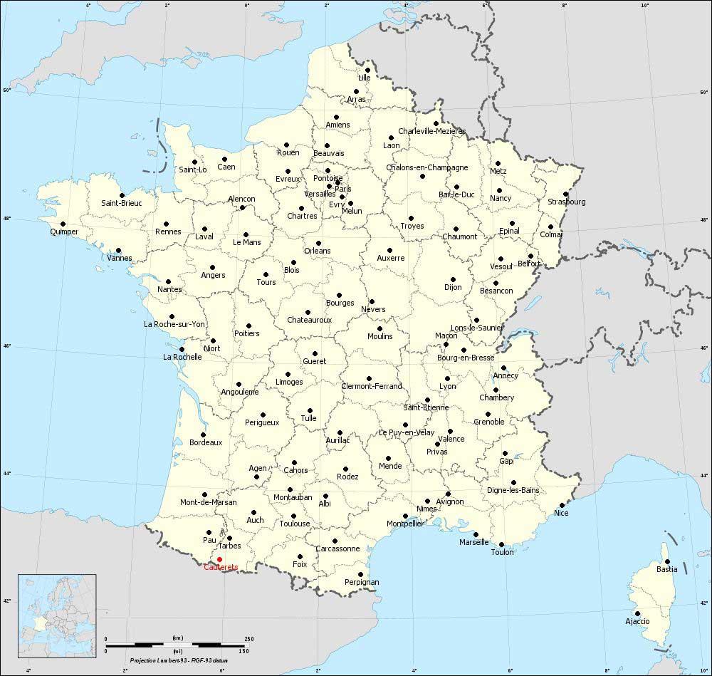 Ville de Cauterets - Carte de France