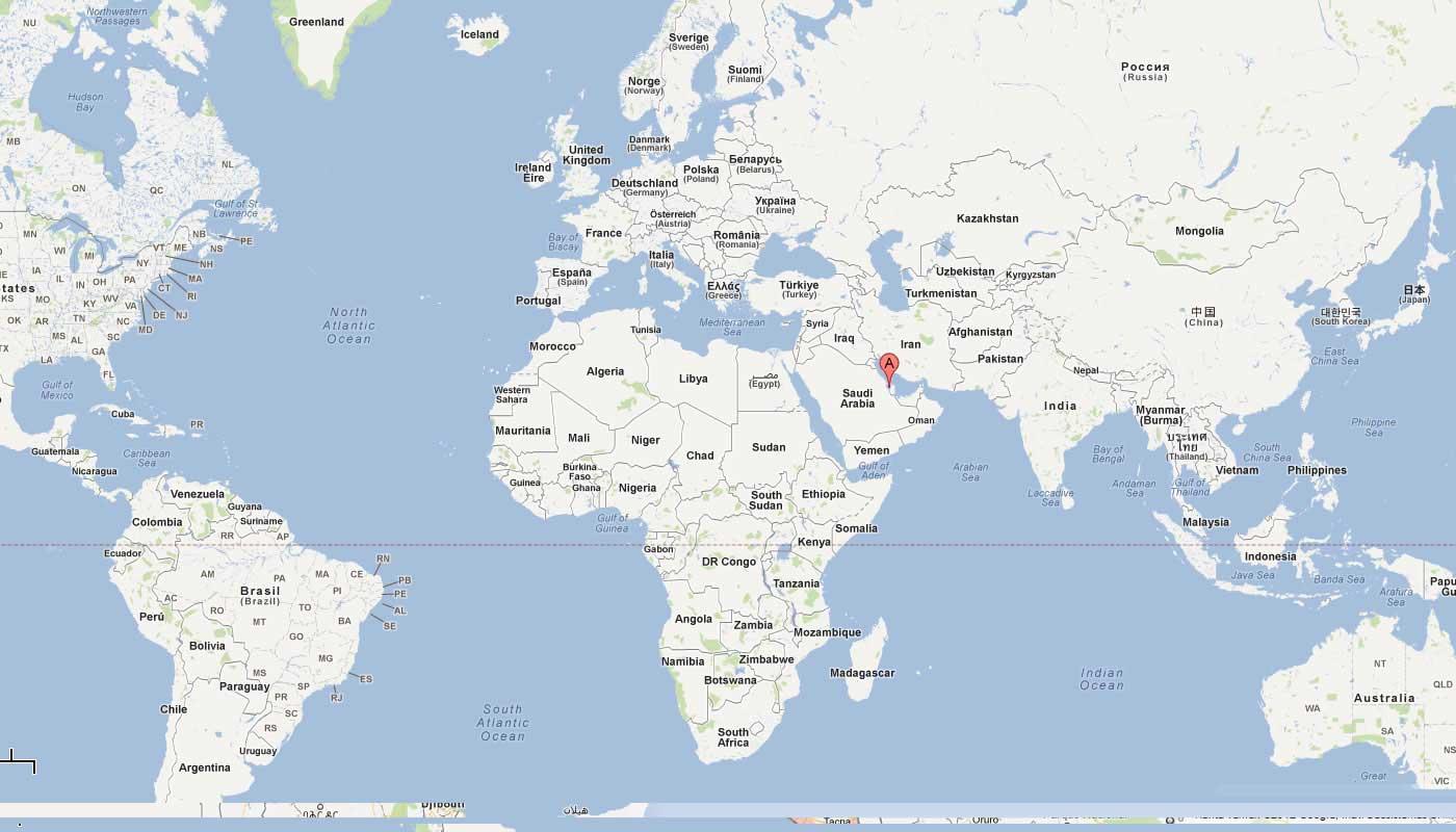 dubai carte du monde
