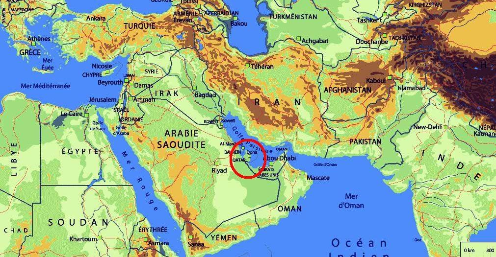 Carte du Qatar dans le monde