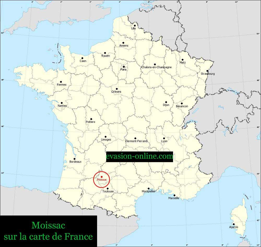Moissac - Carte de France