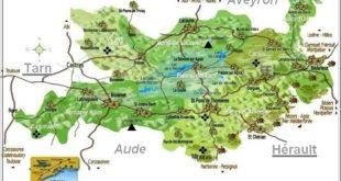 Carte du Parc naturel du Haut Languedoc