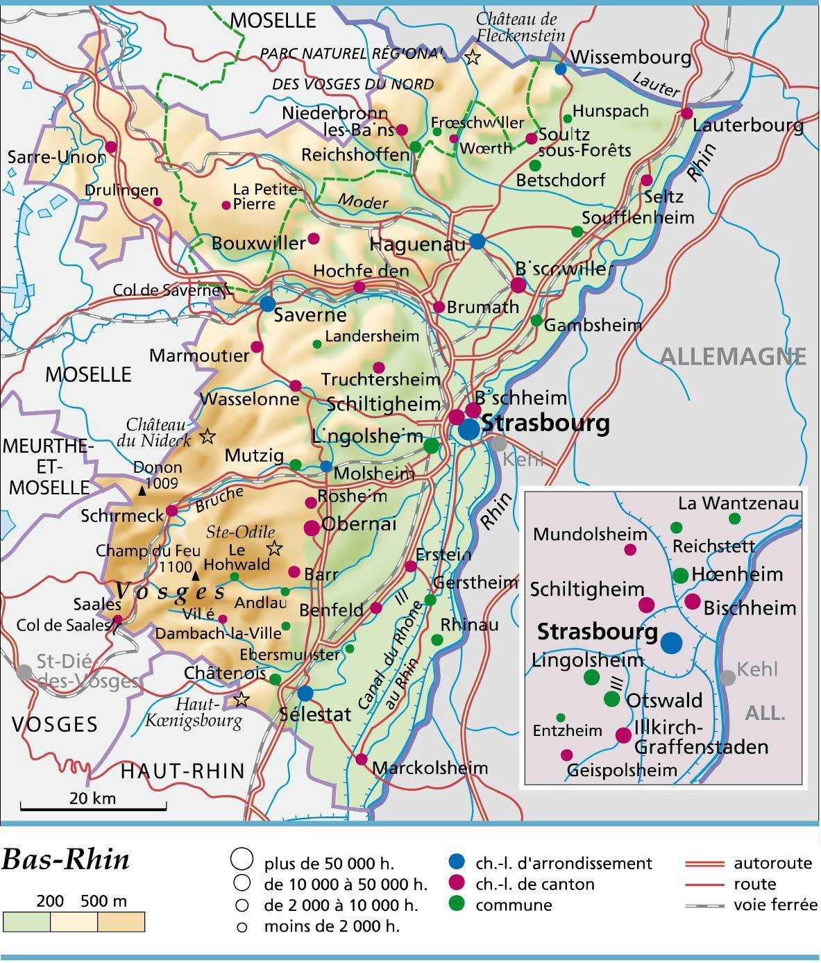 Carte Geographique Alsace Bas Rhin.Bas Rhin Departement 67 Vacances Arts Guides Voyages