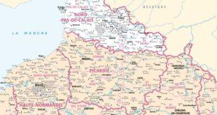 Carte de France - Région Nord