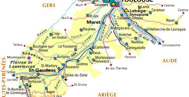 carte du comminges