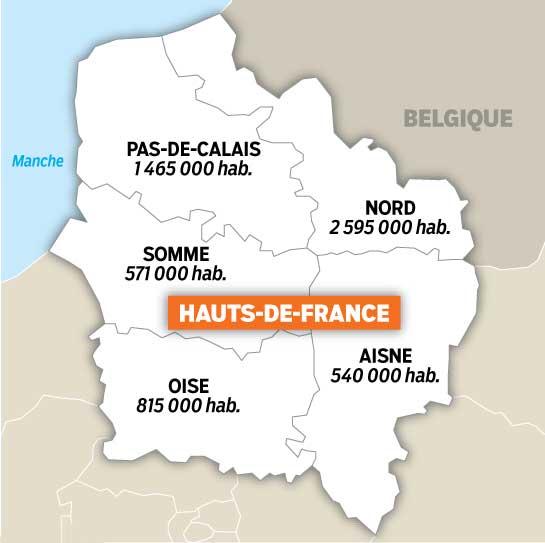 Départements des Hauts de France