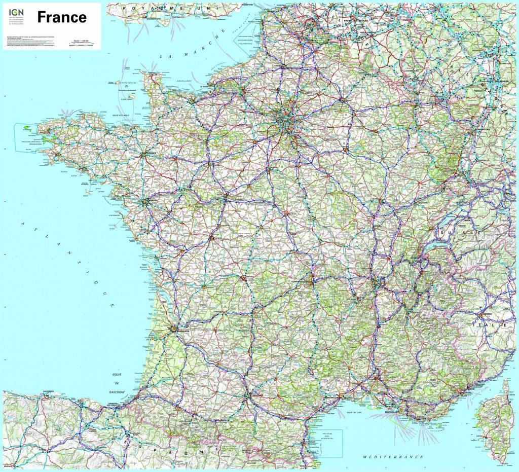 Carte de France détaillée avec ville