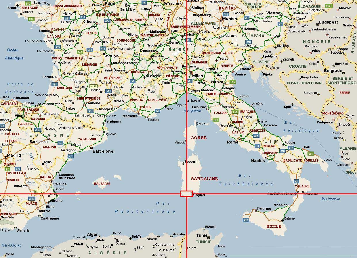 carte-france-italie - Photo