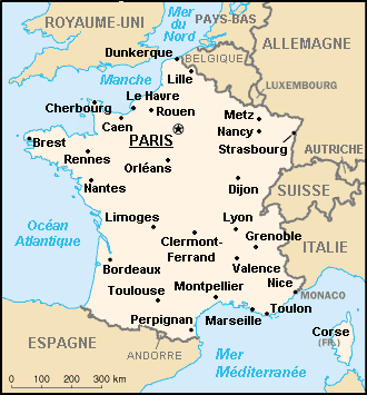 France map - France géographie