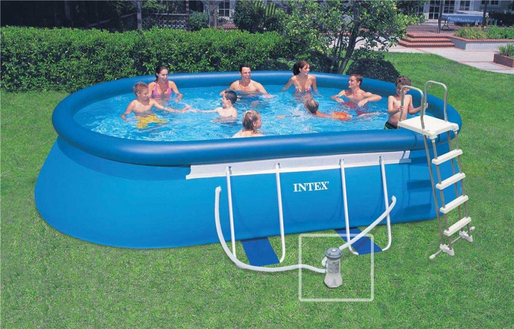 Piscine ovale gonflable
