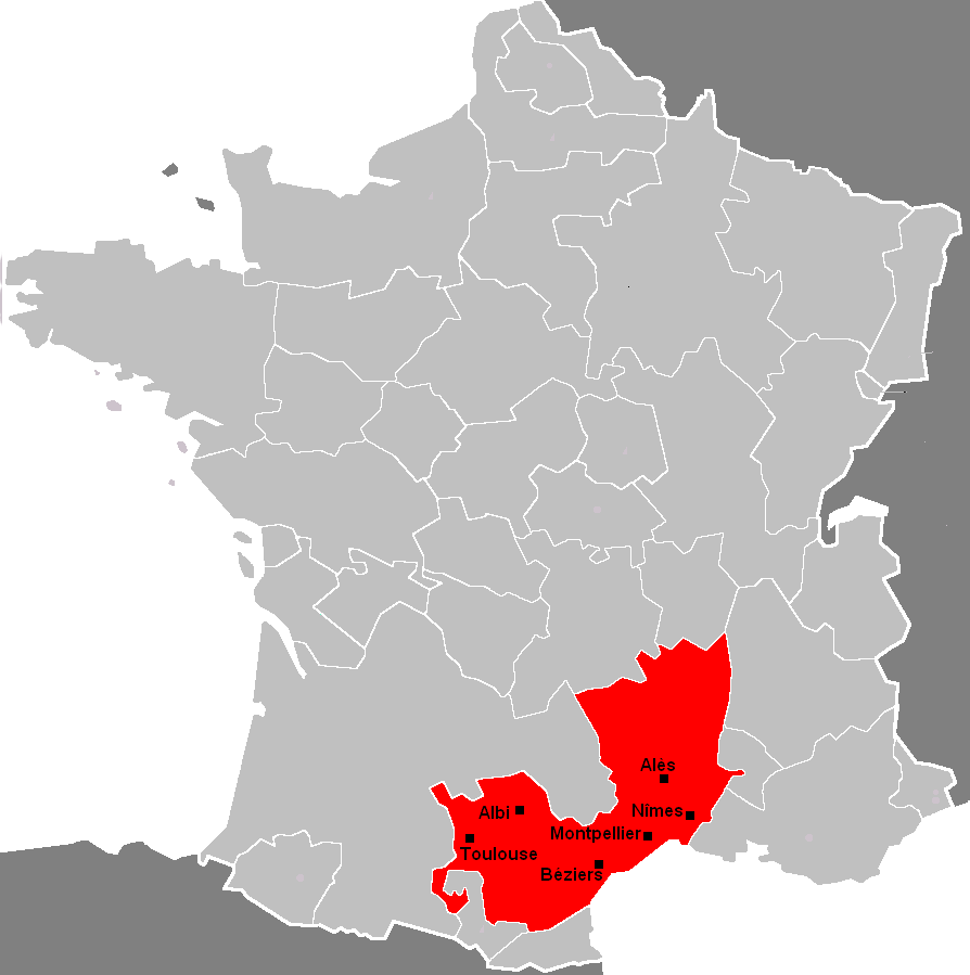 Languedoc - carte de France