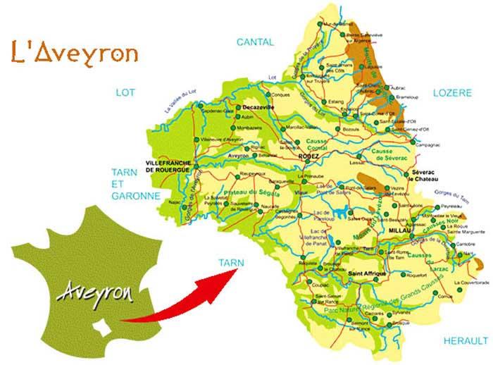 aveyron-carte géographique