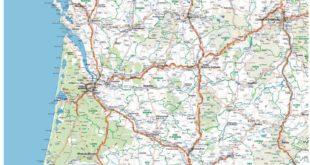Carte routière Sud-Ouest