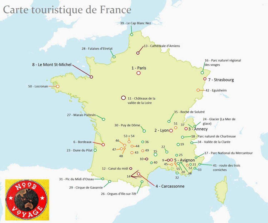 carte-de-la-france-détaillée-touristique