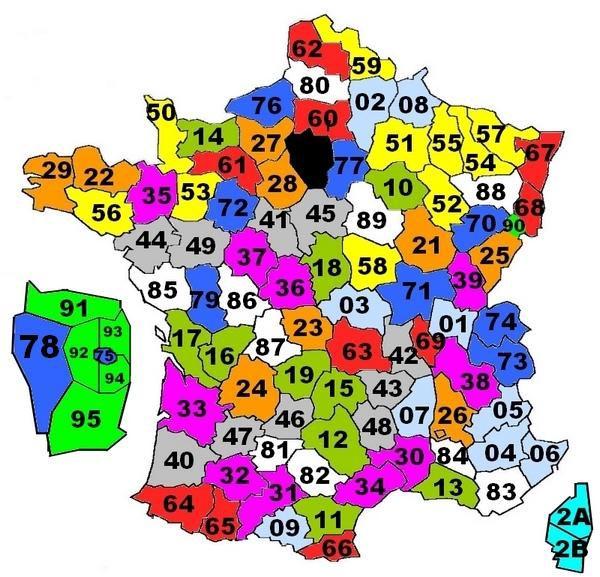 Numéros départements français