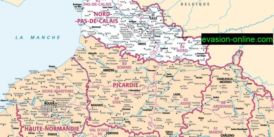 carte de france nord images