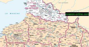 Carte de France Nord détaillée