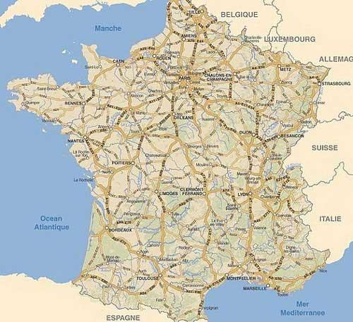 carte-france- villes