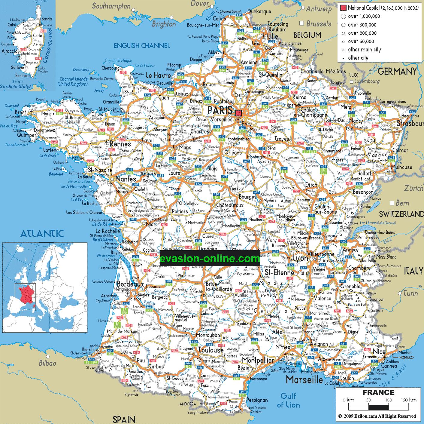 carte de la france détaillée Carte de France détaillée » Vacances   Arts  Guides Voyages
