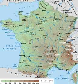 Carte France relief