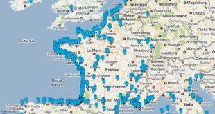 Carte des plages de France