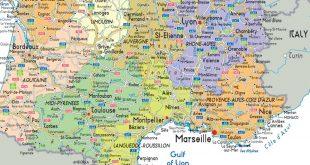 carte du sud de la france - Photo