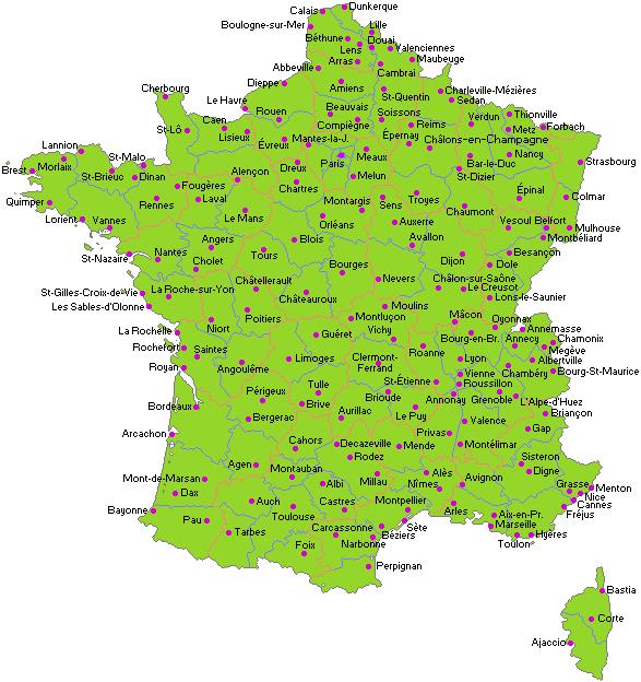 Carte - France villes