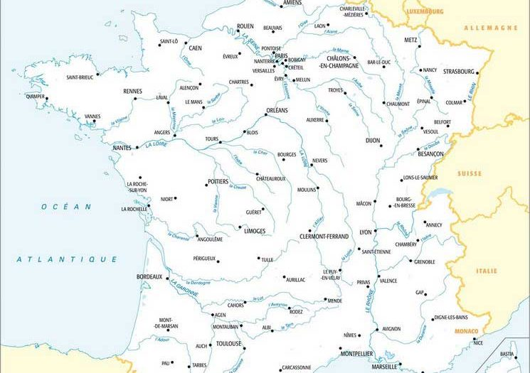 Carte de France - Fleuves