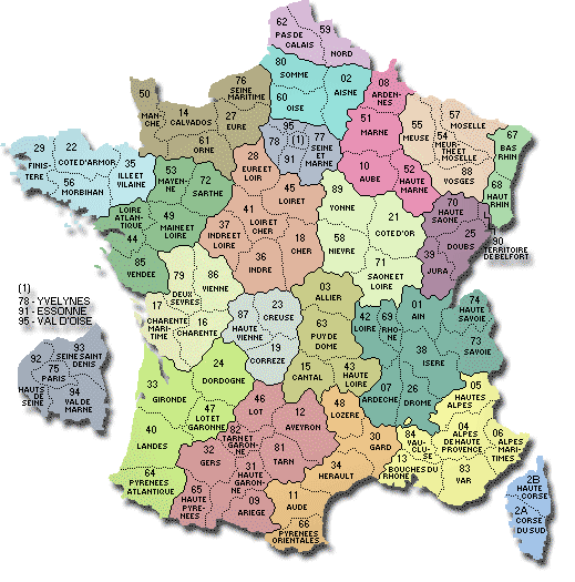 France et départements