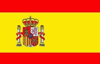 Couleurs du drapeau de l'Espagne