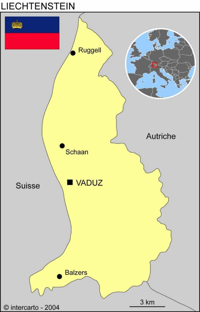 Liechtenstein - Carte