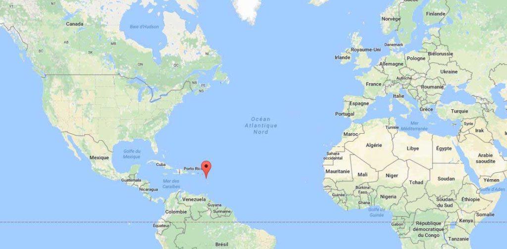 Guadeloupe - Carte du monde
